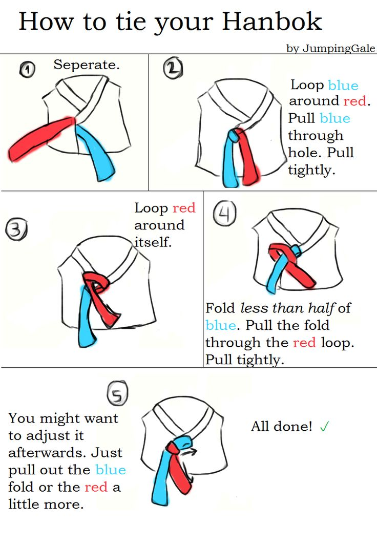 Ok information on tie the bow for hanbok
