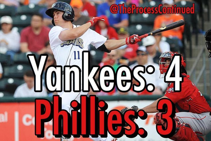 Phils lost today 4-3 to the #Yankees. We were down to our last strike and then Scott Kingery hit a HR to tie the game at 3. Then the Yankees hit a solo HR to win the game.  #NBA #Sixers #76ers #JoelEmbiid #Embiid #BenSimmons #JJRedick #DarioSaric #RobertCovington #TTP #TrustTheProcess #Eagles #NFL #FlyEaglesFly #CarsonWentz #SuperBowl #MLB #Phillies #GoPhils #PhilliesNation #RhysHoskins #DonovanMitchell