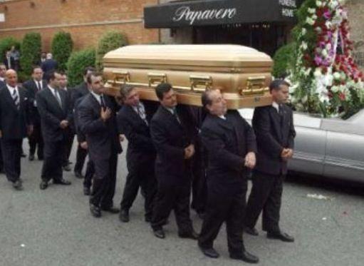 John Gotti's casket.