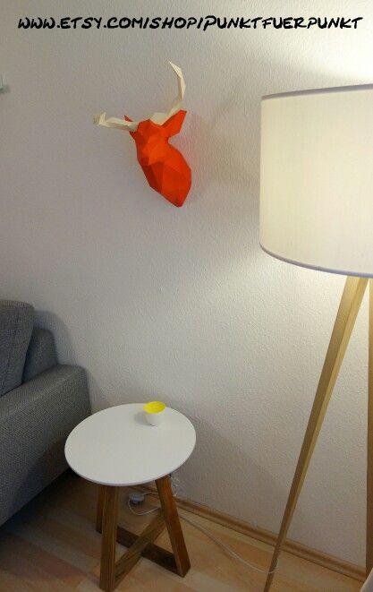 diy papercraft decor decoration origami papertrophy wallart home