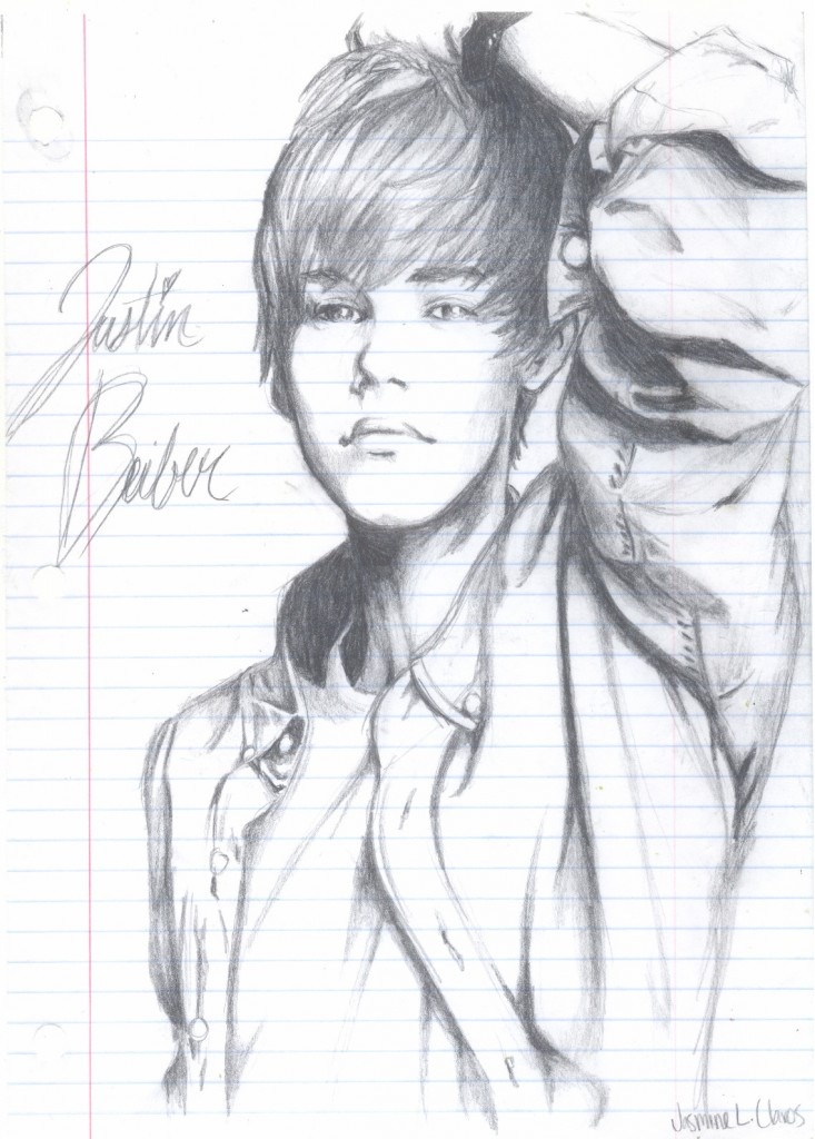 Justin Bieber sketch! No way I could draw that...