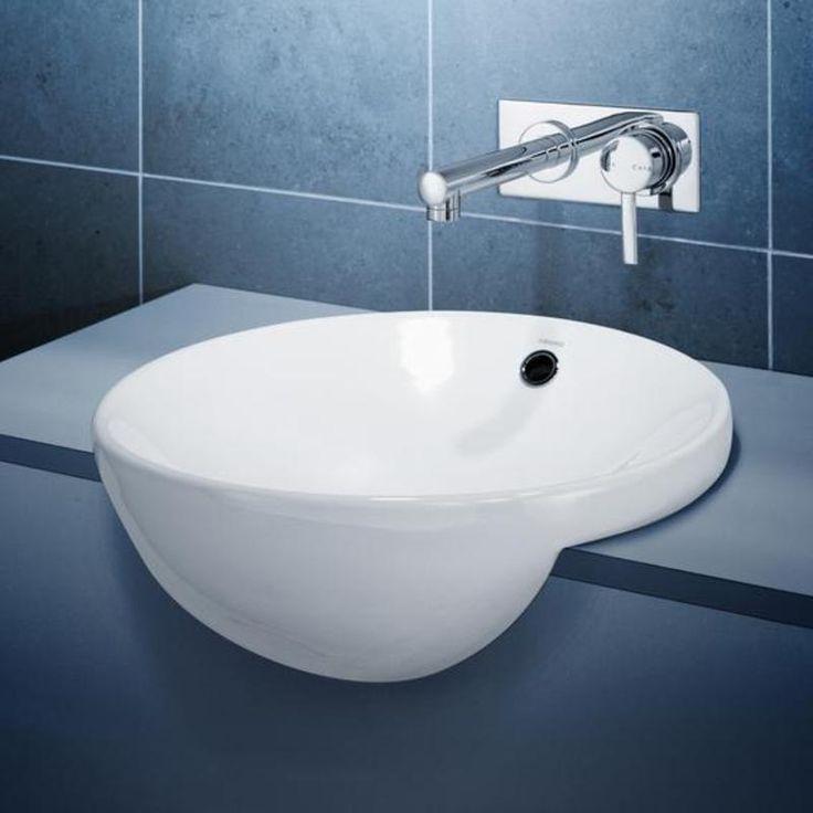 Basins - Leda - Leda Vasque Semi Recessed Vanity Basin http://www.caroma.com.au/bathrooms/basins/leda/leda-vasque-semi-recessed-vanity-basin