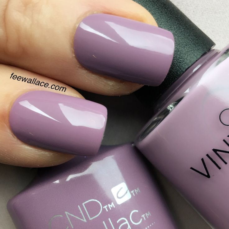 shellac and vinylux lilac eclipse from CND  NIGHTSPELL nail color by fee wallace