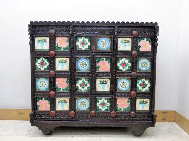 Antique Damachiya Tiled Chest