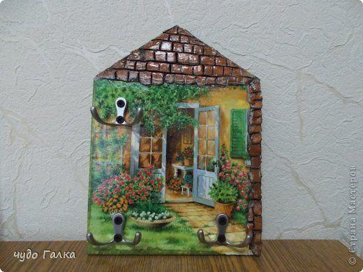 Декор предметов Декупаж Ключница Дерево фото 1
