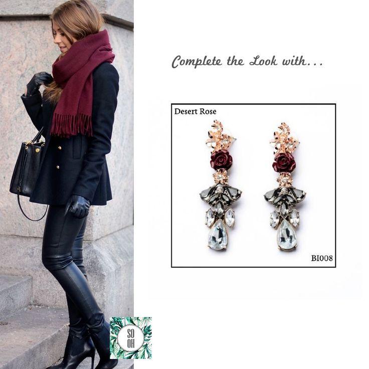 Ref: BI008 Desert Rose Medidas: 7.7 cm x 2.2 cm  So Oh: 11.99 🌱#sooh_store #onlinestore #style #inspiration #styleinspiration #brincos #earrings #fashion #shoponline #aw2016 #aw1617 #winterstyle