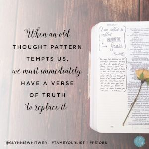 "#TameYourList Proverbs 31 Online Bible Study {Finishing Well … When We Want to Quit}: ""When we are committed to breaking bad habits and stopping the cycle of procrastination, our most powerful tool is God's Word."" ~Nichole Stern 