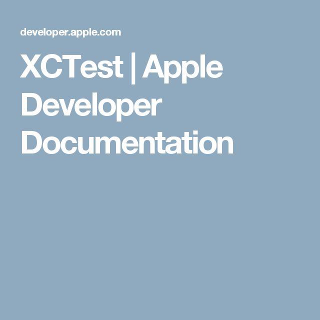 XCTest | Apple Developer Documentation