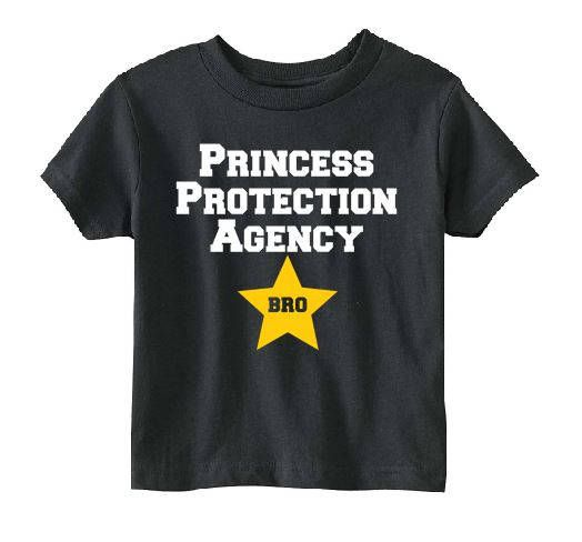 Princess Protection Agency Bro Shirt, new brother gift, big brother, youth shirt, princess party, birthday party, ppa, toddler shirt