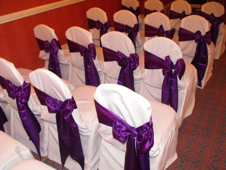 Chair Cover Bows 63 best purple bows - chair covers images on pinterest | white