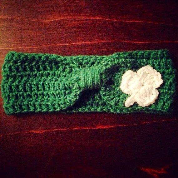 Crochet Children's  St Patricks Day Ear Warmer by TheFancyStitcher, $6.00