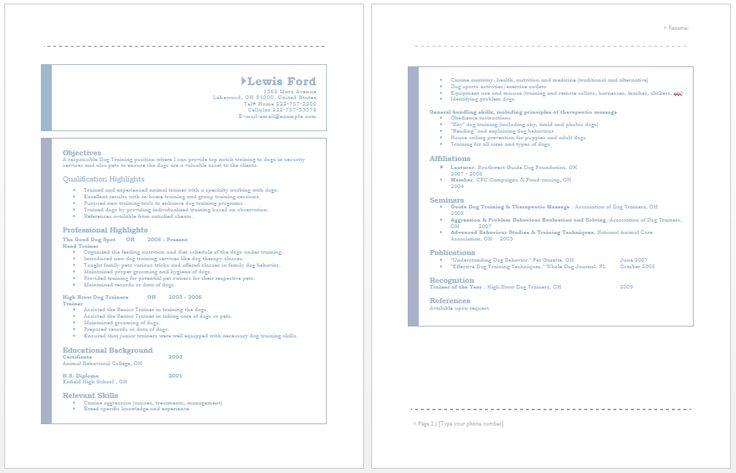156 best Resume / Job images on Pinterest Resume examples, Free