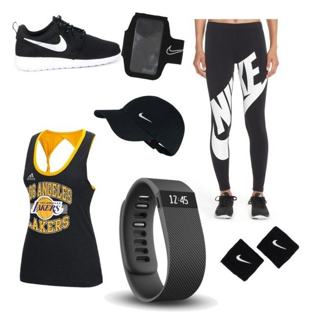 """""""Nike gear"""" by jen9ne on Polyvore featuring NIKE, adidas and Fitbit"""