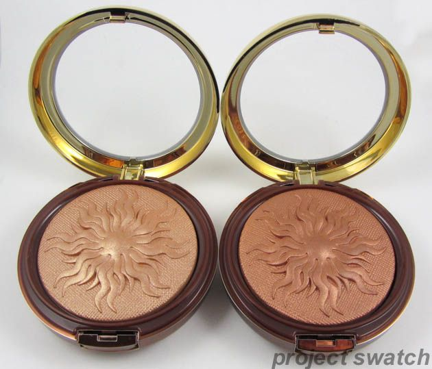 Physicians Formula Bronze Booster Glow-Boosting Airbrushing Bronzing Veil in Light to Medium (left) and Medium to Dark