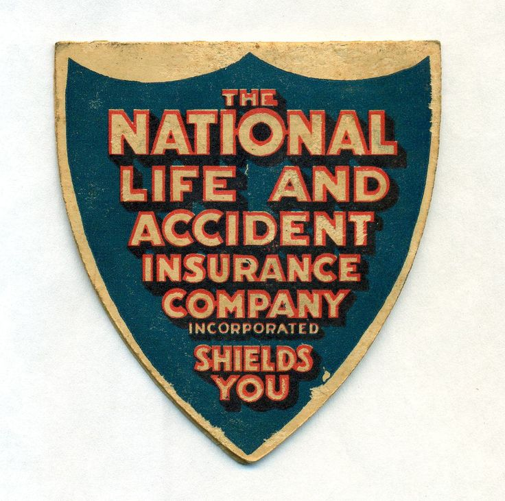 Vintage advertising needle book national life accident