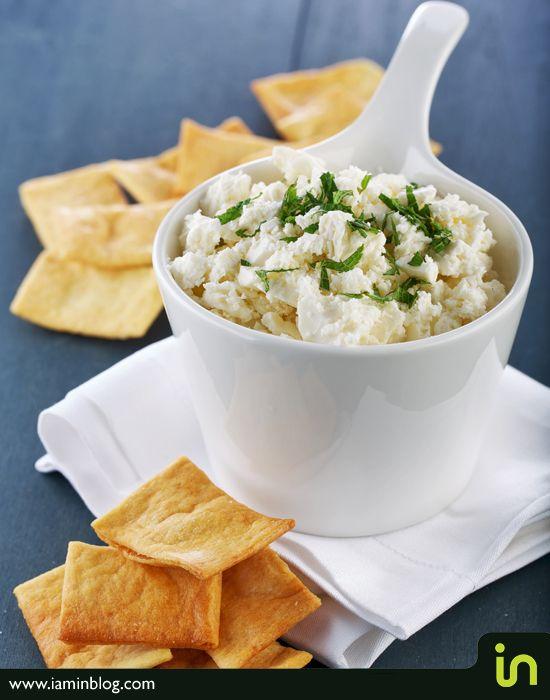 Greek yogurt + feta + mint = easy dip!