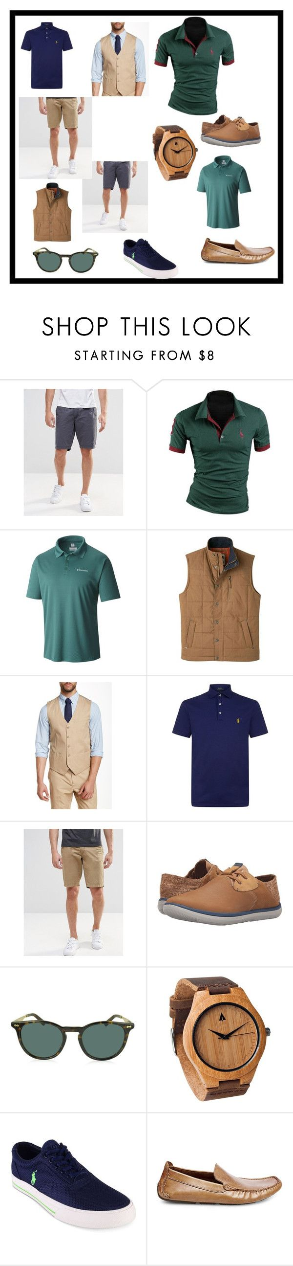 """Tenu garçons d'honneurs brunch"" by shannon-halimi on Polyvore featuring Blend, Columbia, Mountain Khakis, Perry Ellis, Polo Ralph Lauren, Merrell, Gucci, Steve Madden, men's fashion et menswear"