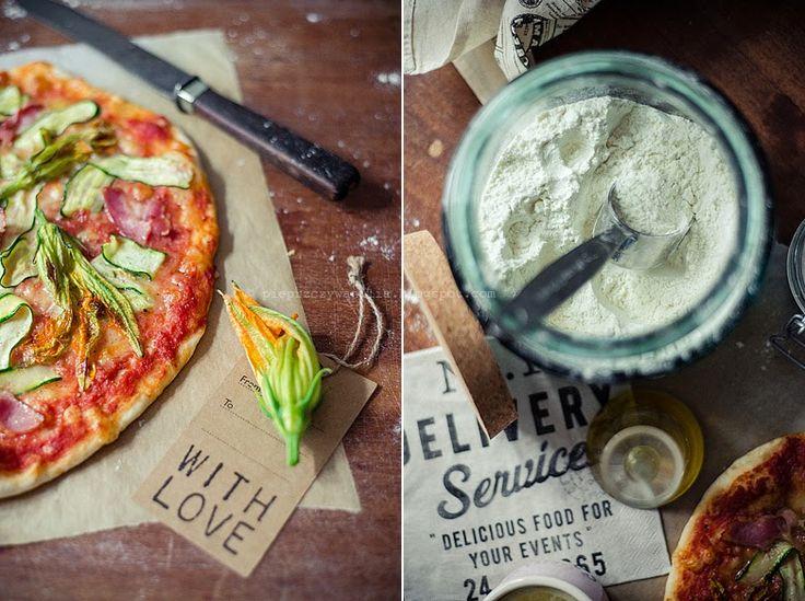 pieprz czy wanilia fotografia i kulinaria: Ukwiecona pizza