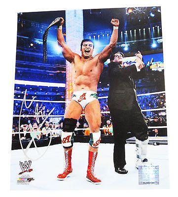 WWE ALBERTO DEL RIO HAND SIGNED 8X10 PHOTO FILE W/ PROOF 1