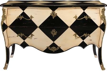 French Painted Furniture: Harlequin Patterned Chests