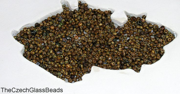 5g CZECH SEED BEADS 10/0 picasso stripe mix 335. by TheCzechGlassBeads on Etsy