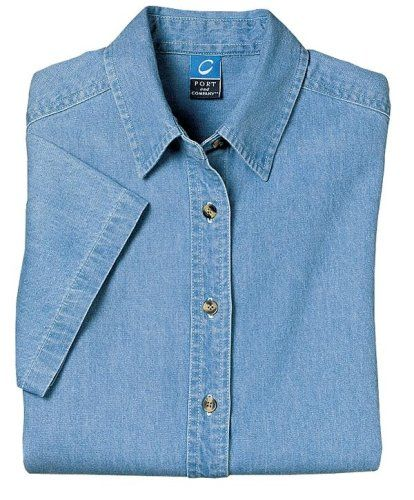 Port  Company – Ladies Short Sleeve Value Denim Shirt. LSP11 – Faded Blue – X-Large  Special Offer: $15.98  477 Reviews Port  Company – Ladies Short Sleeve Value Denim Shirt. LSP11 An affordable denim option with a flattering fit for ladies. This...