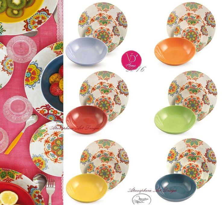 Villa d este servizio di piatti malika cala moresca 18 pz for Servizio di piatti