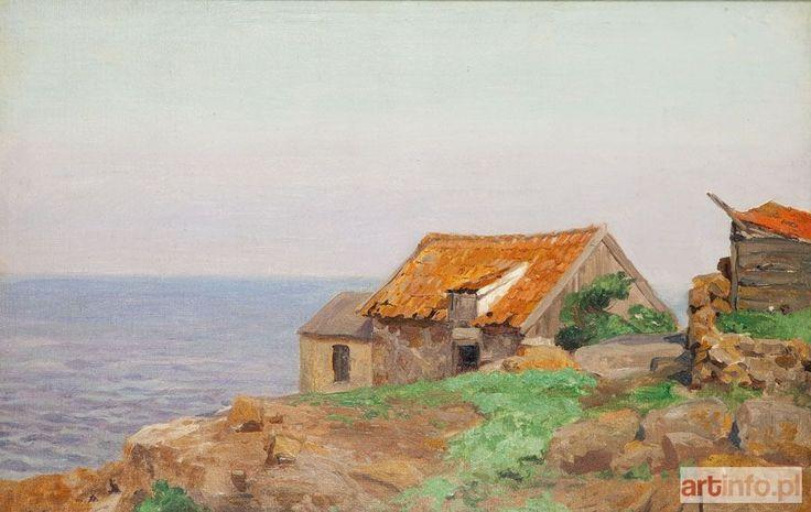Michał WYWIÓRSKI GORSTKIN ● Dom z czerwonym dachem nad morzem ●