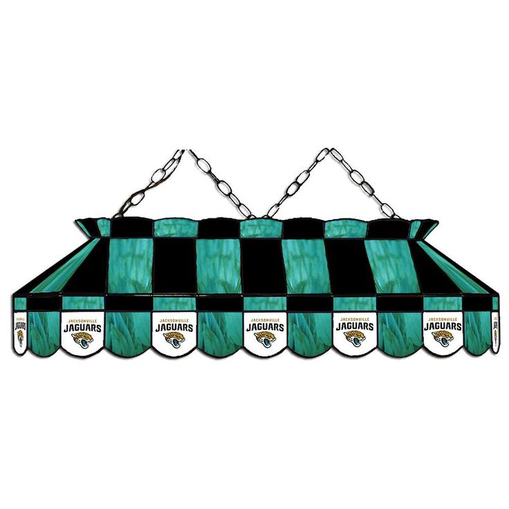Jacksonville Jaguars NFL Stained Glass Pool Table Light Is The Proper Way  To Light Your Pool Table While Showing Off Your Jacksonville Jaguars Team  Spirit
