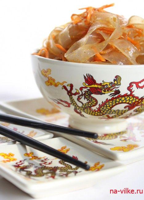 Корейские салаты из лапши и крабовых палочек