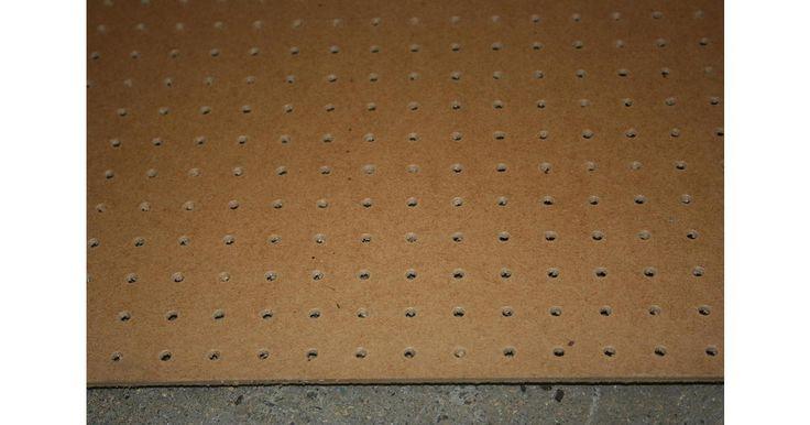 "Standard Pegboard : 8x4x1/8"" Boards - 2440x1220x3.0mm Sheets - 19mm hole centre Perforated Hardboard Sheets @ JAS Timber Merchants Blackburn Lancashire North-West UK."