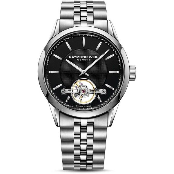 Raymond Weil Freelancer Watch, 42.5mm (25.525.665 IDR) ❤ liked on Polyvore featuring men's fashion, men's jewelry, men's watches, watches, raymond weil mens watches and mens silver watches