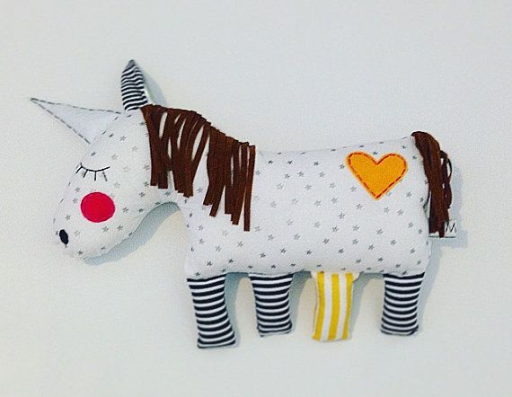 Sunbeam the Unicorn plush toy for babies $25 by LilMeegs on Etsy