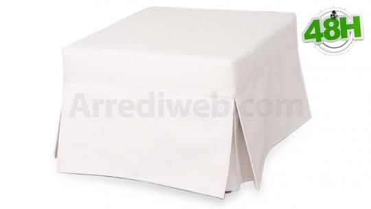 Pouf letto con rivestimento in similpelle