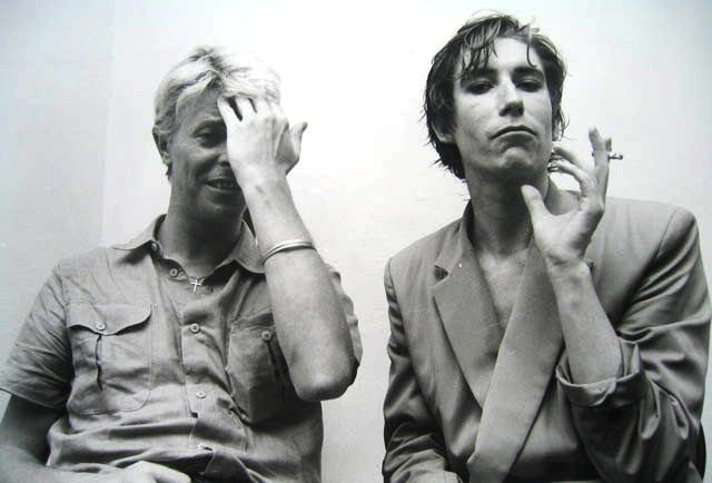 Classic Photos: David Bowie and Richard Butler (The Psychedelic Furs) #davidbowie #richardbutler #thepsychedelicfurs