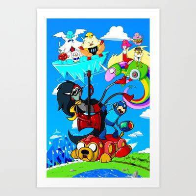 Megaman Time Art Print by Team Renegade