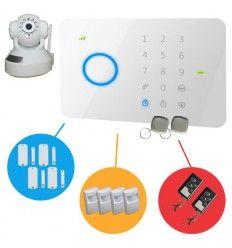 Alarme Maison sans fil GSM 4/5 pièces + Caméra IP Wifi