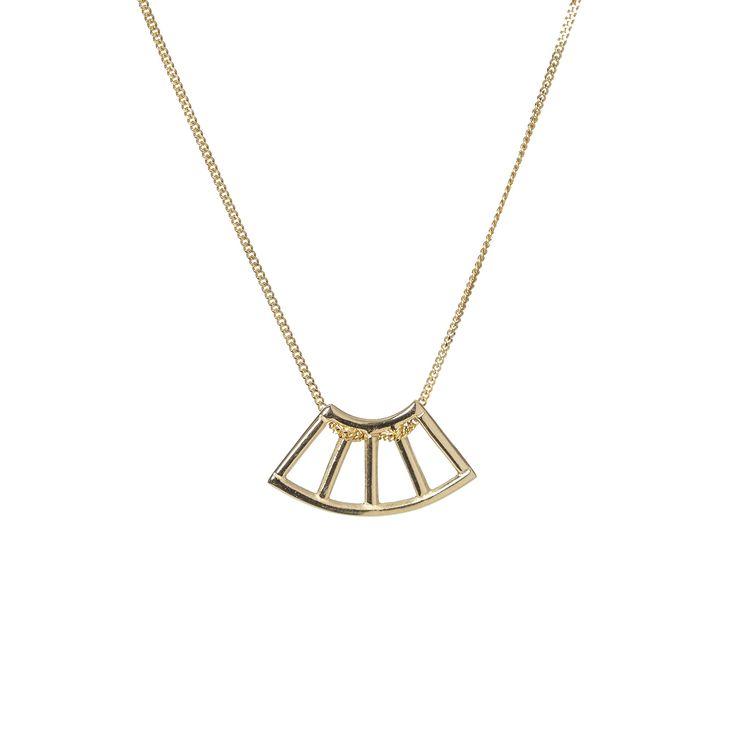 Yellow gold nyala pendant | Dear Rae | Online Shop