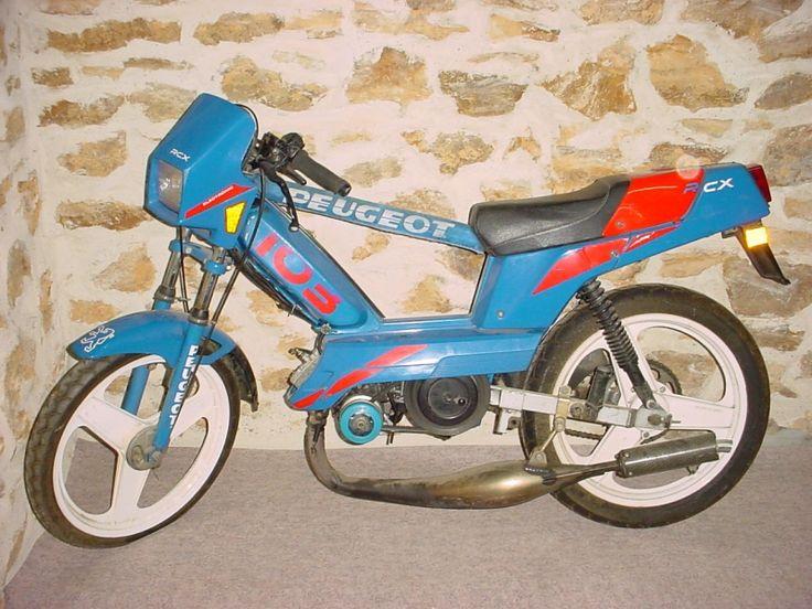 Peugeot 103 RCX AC bleu / rouge