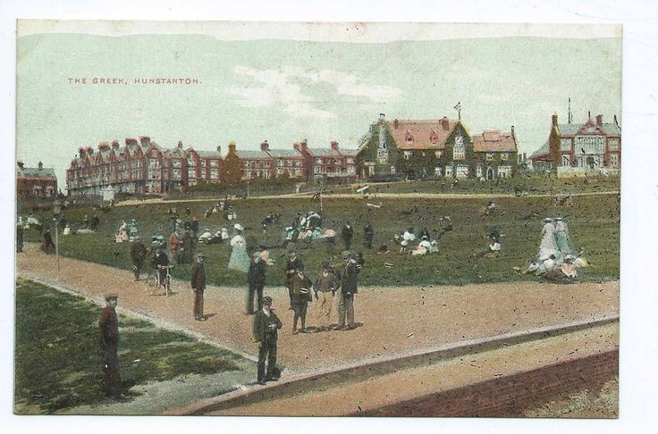 The Green, Hunstanton postcard | eBay