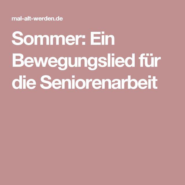 Sommer: Ein Bewegungslied für die Seniorenarbeit