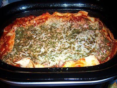 What's Cookin' Italian Style Cuisine: Crock Pot Lasagna Easy Recipe