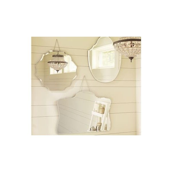 pottery barn piper frameless bevel mirror small 99 liked on polyvore featuring