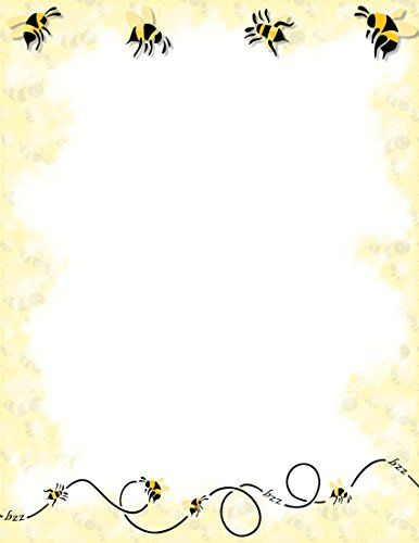 NEW Bumble Bee Letterhead Stationery Paper 26 Sheets FPS Amazon