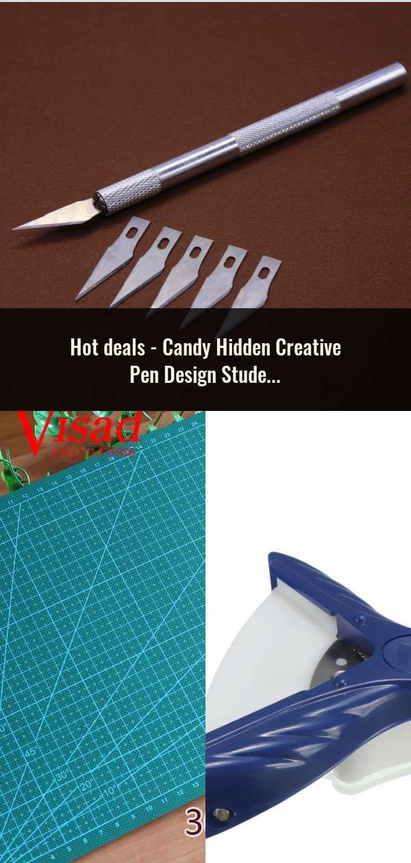 Candy Hidden Creative Pen Design Student Safe Scissors Paper Cutting Art Office School Supply With Cap Kids Stationery Diy Tool Scissors
