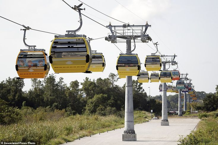 Disney world florida launches skyliner aerial tram at