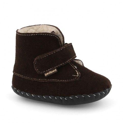 Originals Henry Choc Brown | incaltaminte bebelusi #pediped | incaltaminte imblanita bebelusi | incaltaminte confortabila pentru copii de la 0-2 ani