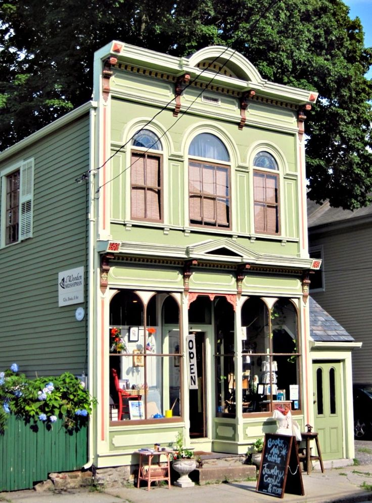 Shop in an old Victorian building