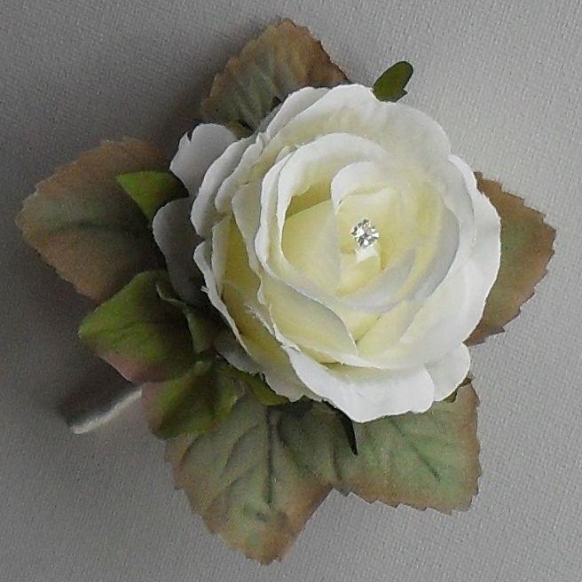 Vintage Silk Rose Hydrangea Flower Wedding Diamante Buttonhole Corsage | eBay