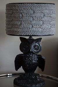 Knit Lampshade Cover